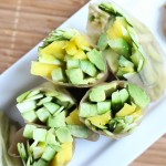 Mango, Cucumber and Zucchini Summer Rolls with Sunflower Seed Butter Dipping Sauce