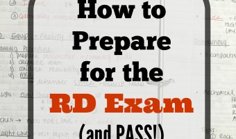 How to Prepare for the RD Exam