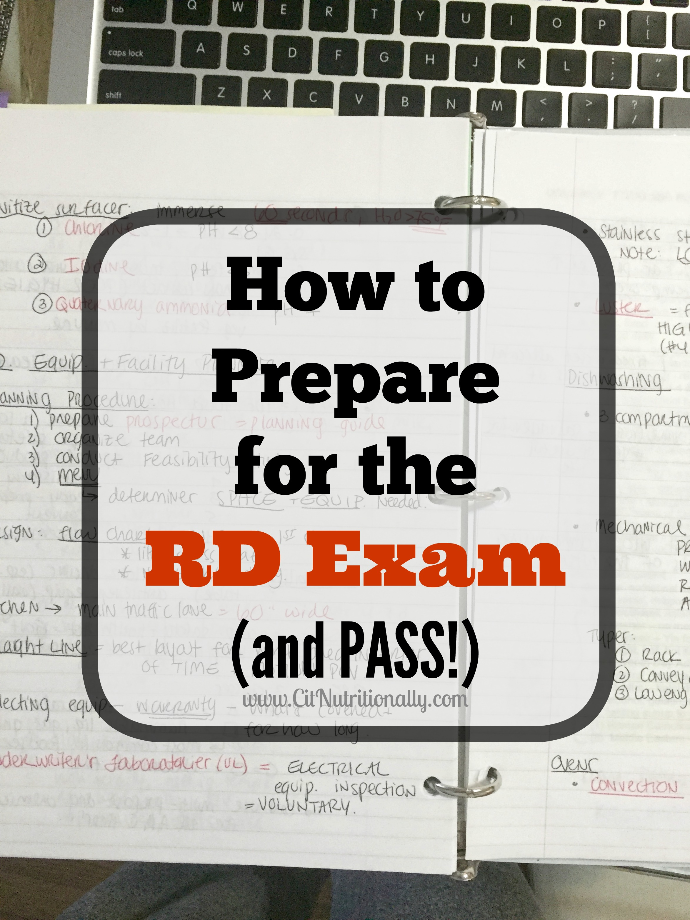 How to Prepare for the RD Exam | C it Nutritionally #RD2be #dietitian #nutritionist #nutrition #dieteticintern