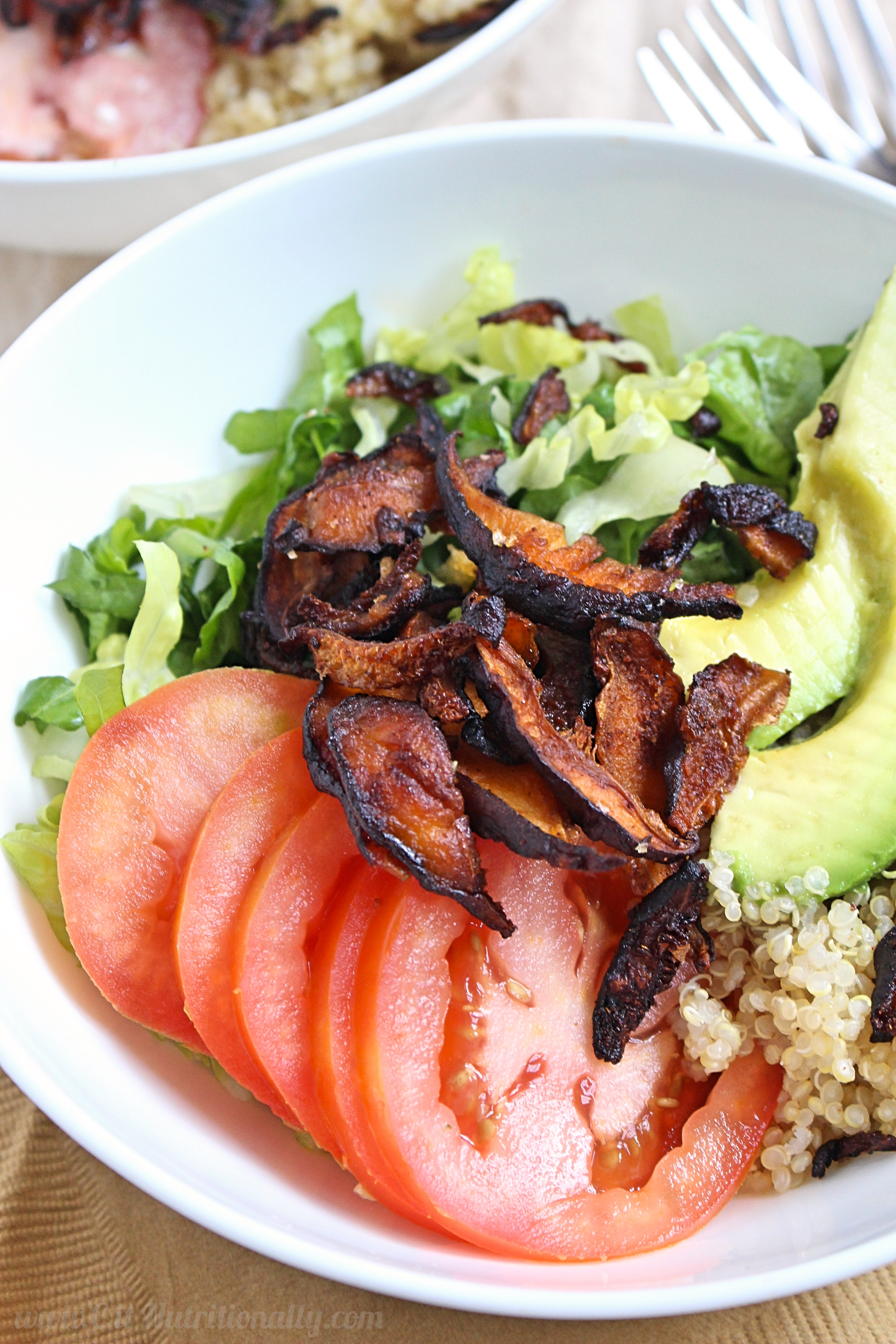 Vegan BLT Quinoa Bowls with Tangy Yogurt Dressing | C it Nutritionally