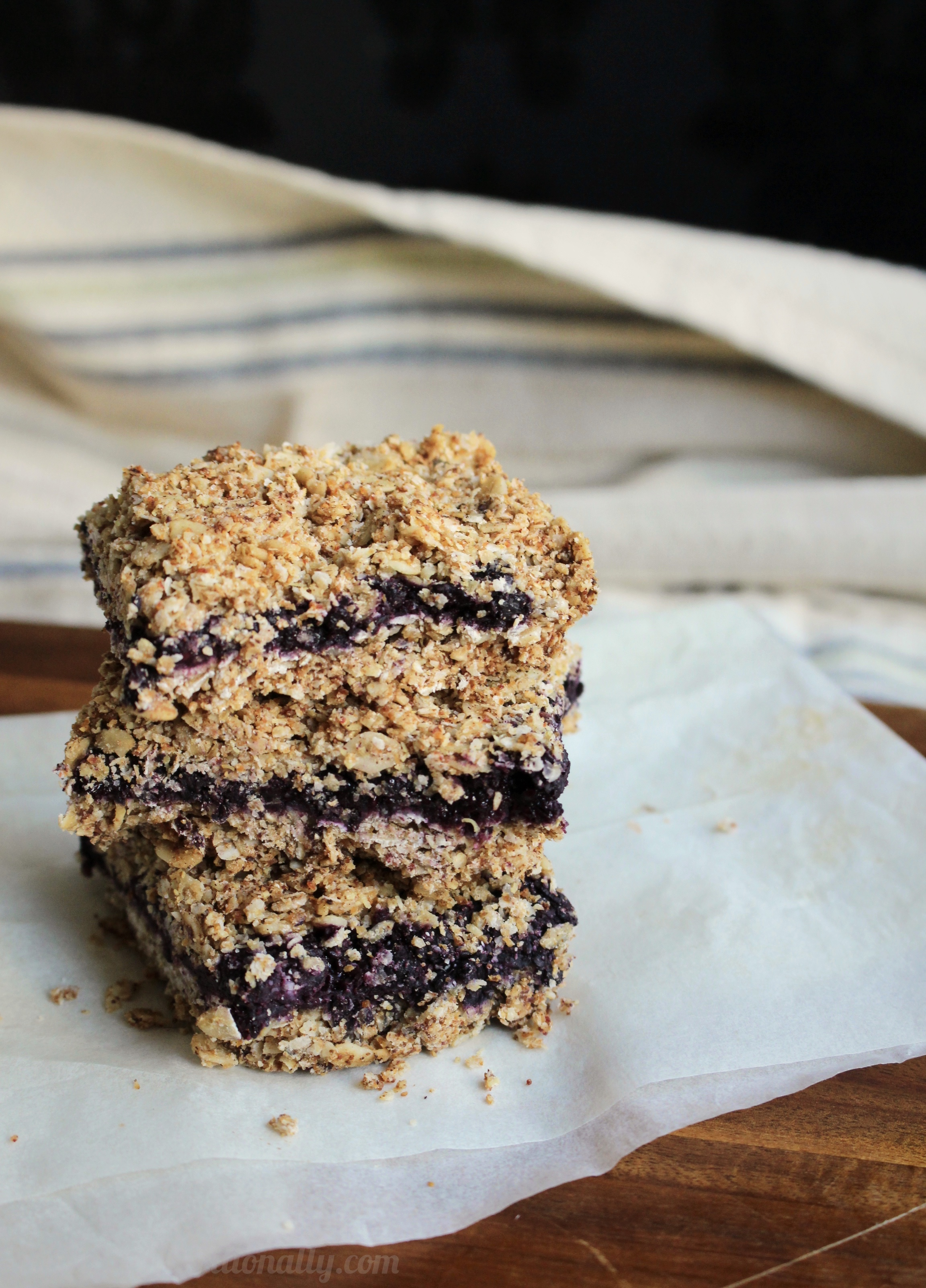 {Frugal Friday} Wild Blueberry Oatmeal Bars | C it Nutritionally