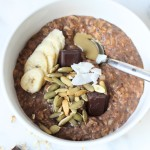 10 Minute Chocolate Brownie Oatmeal Bowl