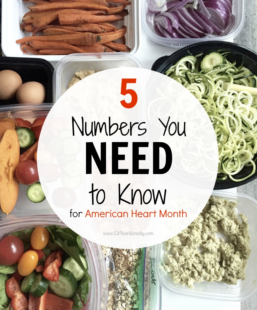 How do you measure your heart health? Do you know your numbers? Today, I'm sharing the 5 numbers you need to know for American Heart Month. 5 Numbers You Need to Know for American Heart Month | C it Nutritionally