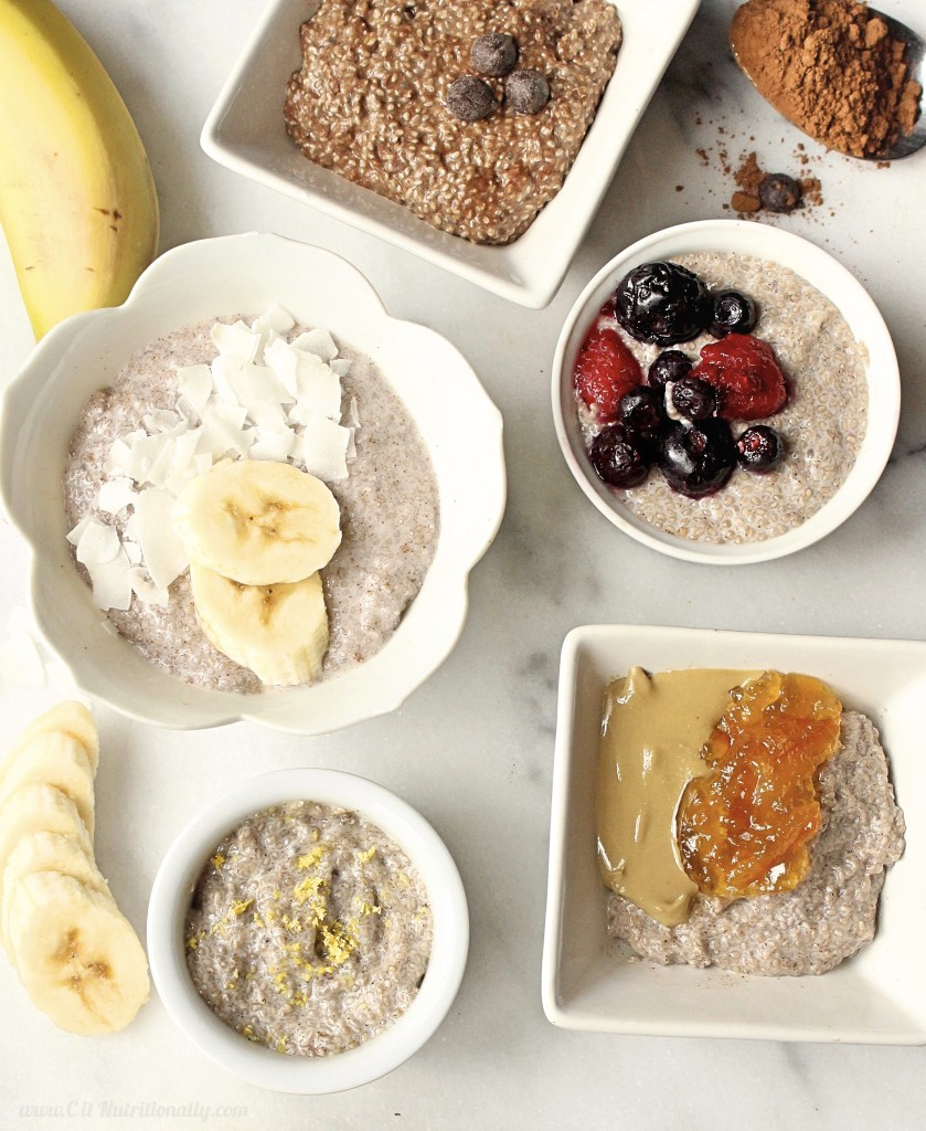Basic Chia Pudding is one of my go-to breakfasts or snacks, especially when I'm trying to cut my added sugar intake. It's full of fiber, protein and healthy fats that keep me full for hours. Try these 4 variations and your taste buds will thank you! Vegan, Gluten free, Grain free, Dairy free, Nut free, No added sugar | Basic Chia Pudding, 4 Ways + Video! | C it Nutritionally