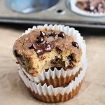 Grain Free Vegan Chocolate Chip Banana Bread Muffins {Nut Free}