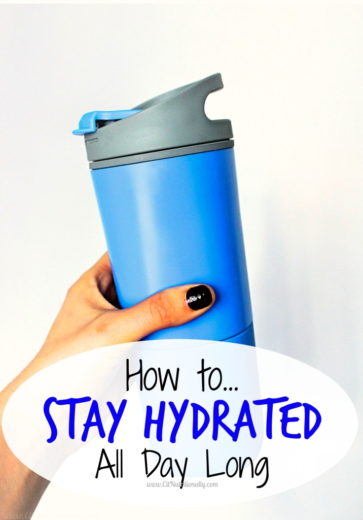 How to Stay Hydrated All Day Long | C it Nutritionally | One of the EASIEST things you can do to feel better, look better, be your best self and see your life nutritionally is stay hydrated! So on this eighth week of my 52 weeks to see your life nutritionally series I'm sharing my tips with you on how to stay hydrated all day long!