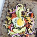 Zucchini Breakfast Nachos for One