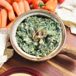 Vegan Spinach and Artichoke Hummus Dip