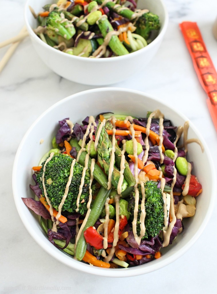 Sunflower Seed Butter Sauce Veggie Stir Fry | C it Nutritionally Kick your traditional stir fry up a notch with this sunflower seed butter sauce veggie stir fry that's every bit delicious as it is nutritious! Vegan, Gluten free, Grain free, Nut free, Dairy free, Egg free