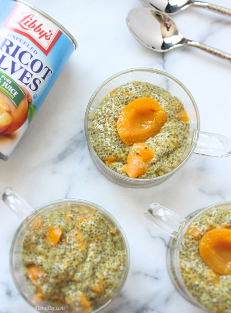 #AD Apricot Turmeric Chia Pudding | C it Nutritionally A great make-ahead breakfast, snack, or even dessert, this Apricot Turmeric Chia Pudding is a delicious way to beat inflammation first thing in the morning! Vegan, Gluten Free, Nut Free, Dairy Free, Egg Free