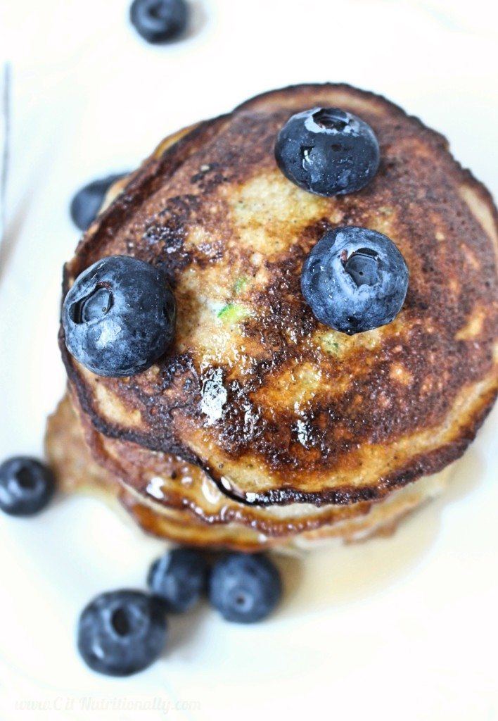 Grain Free Zucchini Bread Pancakes | C it Nutritionally Enjoy a fluffy stack of Grain Free Zucchini Bread Pancakes that are easy to whip together at a moment's notice! Nut Free | Dairy Free | Grain Free | Gluten Free