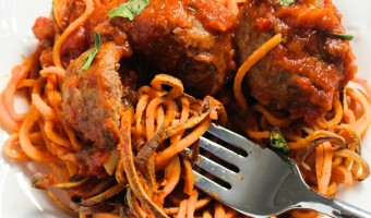 Sweet Potato 'Spaghetti' and Meatballs