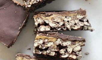 No Bake Crispy Chocolate Bars