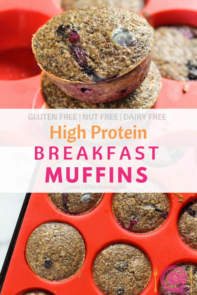 High Protein Breakfast Muffins | C it Nutritionally Delicious and moist High Protein Breakfast Muffins are naturally-sweetened, nutritious and still delicious treat for any time of day! Make a batch at the start of your week and enjoy all week long! Gluten Free, Nut Free, Soy Free, Dairy Free