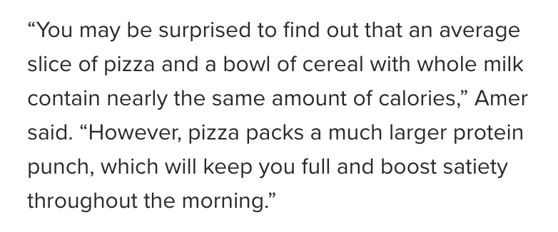 Is Pizza a Healthier Breakfast Option Than Cereal? | C it Nutritionally by Chelsey Amer, MS, RDN, CDN