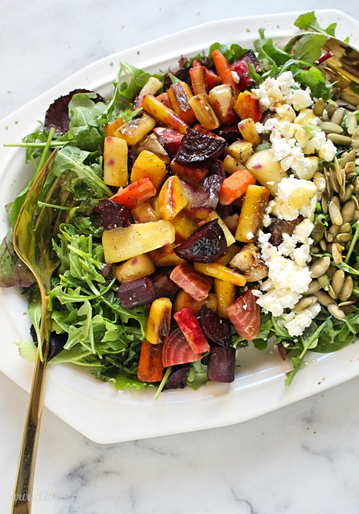 Roasted Beet and Goat Cheese Salad | C it Nutritionally by Chelsey Amer, MS, RDN, CDN