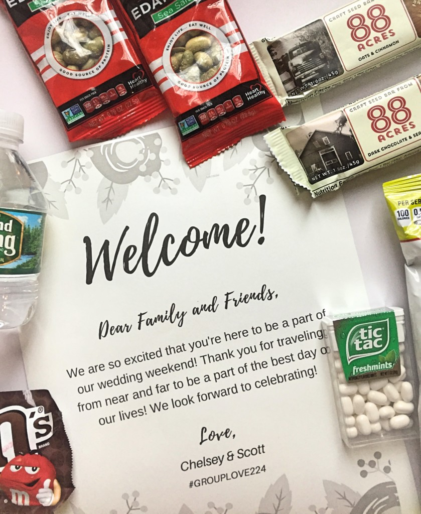 A Look Inside Our Wedding Welcome Bags C It Nutritionally By Chelsey Amer Ms